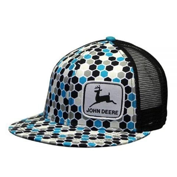 cplp68660-turquoise-high-profile-pattern-cap-w-mesh-back