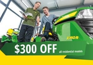 $300 off residential ride-ons